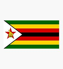 Flag of Zimbabwe Photographic Print