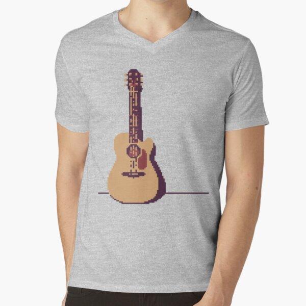 Acoustic Guitar V-Neck T-Shirt