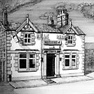 258 - BULL'S HEAD, RHOS - DAVE EDWARDS - INK (2015) by BLYTHART