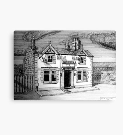 258 - BULL'S HEAD, RHOS - DAVE EDWARDS - INK (2015) Canvas Print