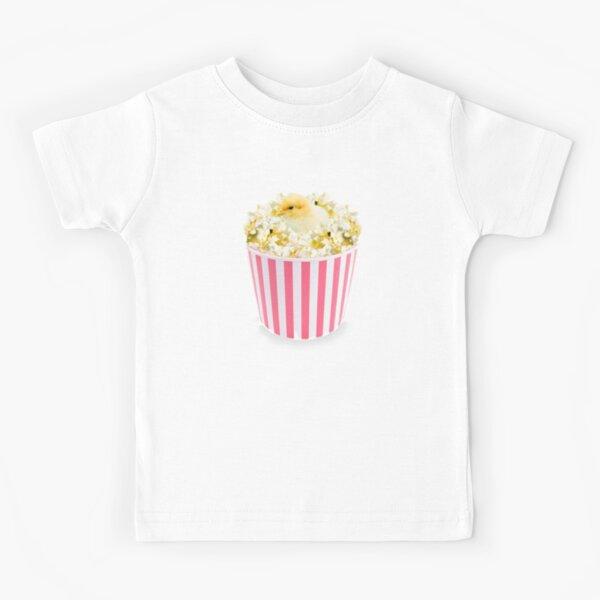 Little Chicken Popcorn by Alice Monber Kids T-Shirt