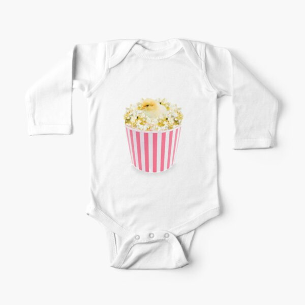 Little Chicken Popcorn by Alice Monber Long Sleeve Baby One-Piece