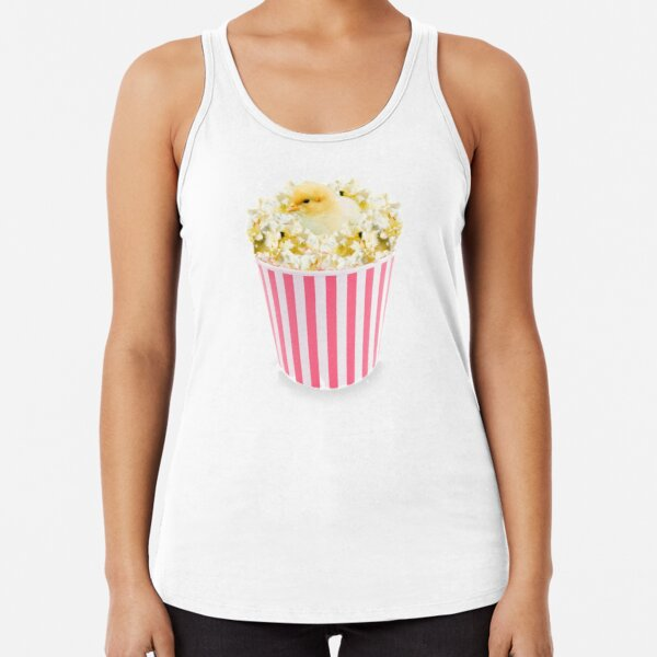 Little Chicken Popcorn by Alice Monber Racerback Tank Top