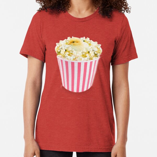 Little Chicken Popcorn by Alice Monber Tri-blend T-Shirt