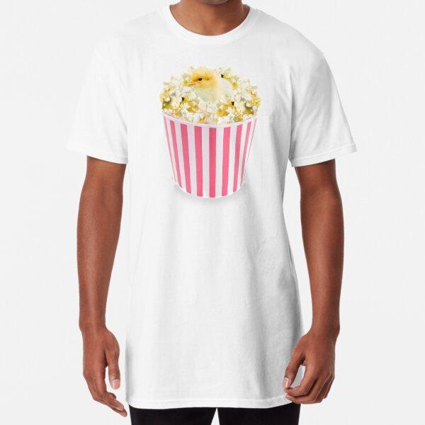 Little Chicken Popcorn by Alice Monber Long T-Shirt