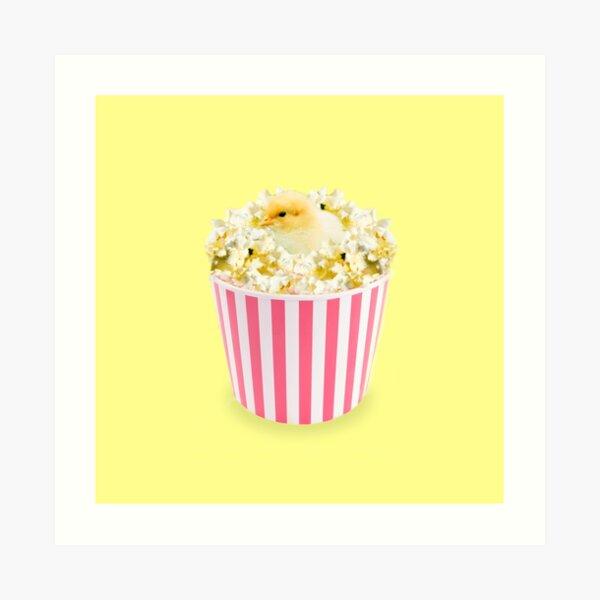 Little Chicken Popcorn by Alice Monber Art Print