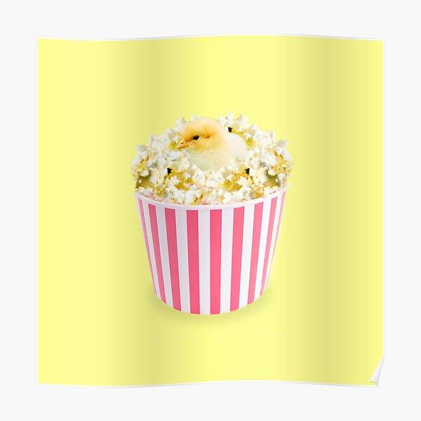 Little Chicken Popcorn by Alice Monber Poster