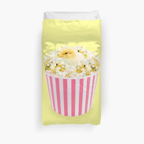 Little Chicken Popcorn by Alice Monber Duvet Cover