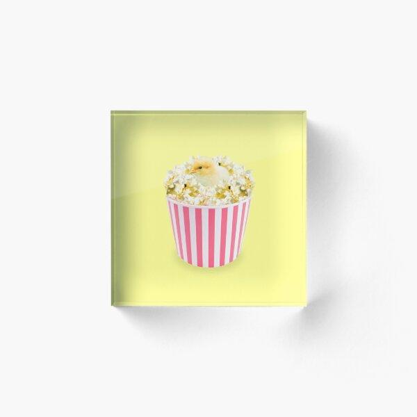 Little Chicken Popcorn by Alice Monber Acrylic Block