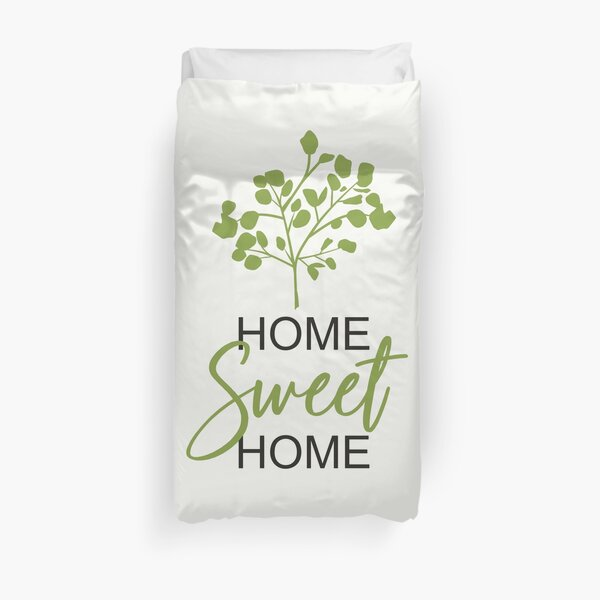 Home Sweet Home Green Funda nórdica