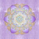 Purple & Gold Watercolour Mandala by tanyadraws