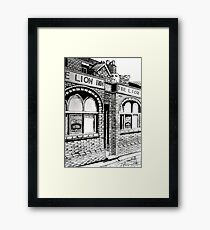 261 - THE LION INN, RHOS - DAVE EDWARDS - INK - 2016 Framed Print
