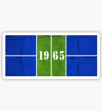 1965 Distressed Pickleball Court Blue/Green Sticker