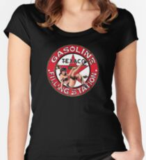 Texaco Retro Sign Women's Fitted Scoop T-Shirt