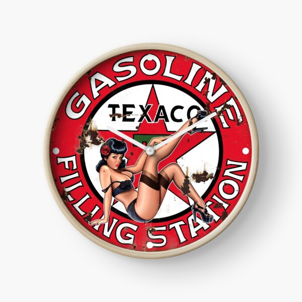 Texaco Retro Sign Clock