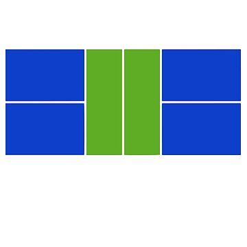 Pickleball Court Design Green & Blue, No Text  by BitterOranges