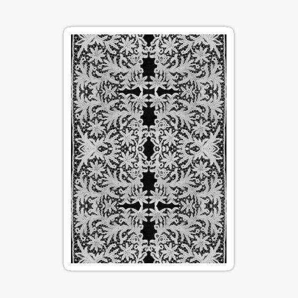 #Crochet #Antique #vintage #weaving lace patterns pattern decoration ornate abstract art Sticker