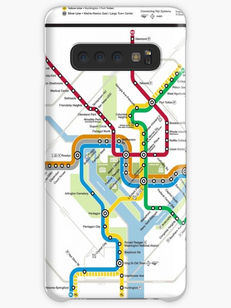 Washington State Subway Map.Washington Metro Map United States Case Skin For Samsung Galaxy By Superfunky