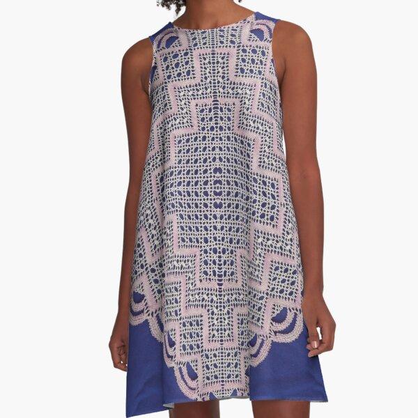 Antique vintage weaving lace patterns A-Line Dress