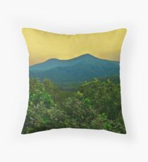 Sunset on the Mountains Throw Pillow