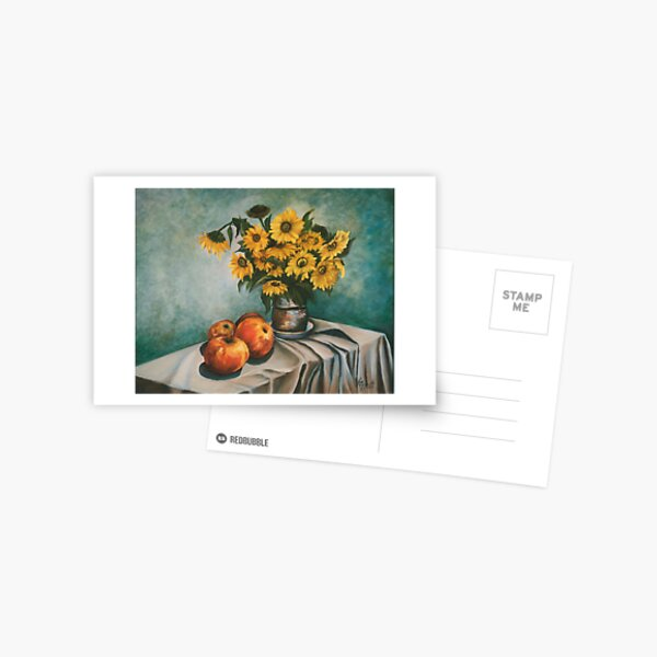Apples and Sunflowers Postcard