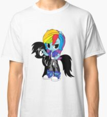 chibi rainbow dash pony shadow Classic T-Shirt