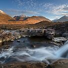 Red Cuillin viewed across the Allt Dearg. Sligachan. Isle of Skye. Scotland. by PhotosEcosse