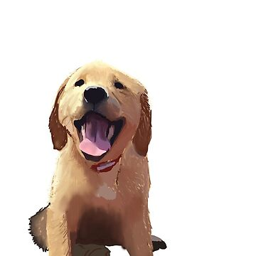 Golden Retriever Puppy Painting de baileymincer