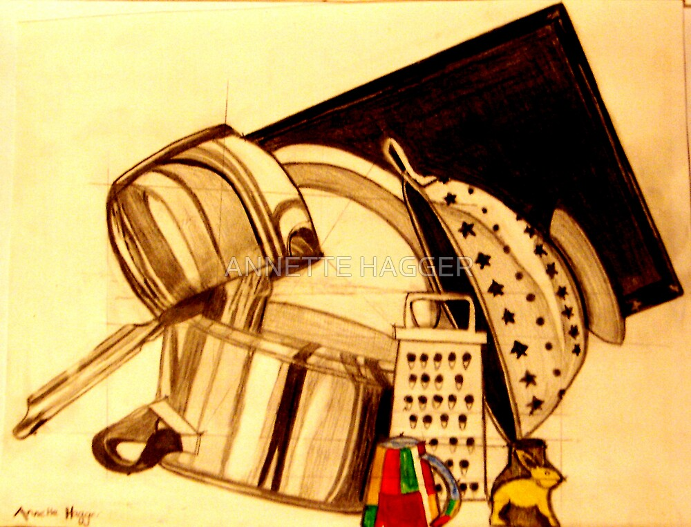 Pots and Pans by ANNETTE HAGGER