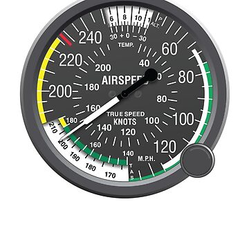 Airspeed Indicator Sticker by ClearProp