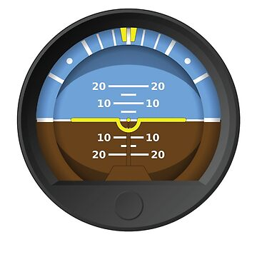 Attitude Indicator Sticker by ClearProp
