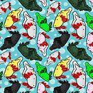 Derpy Axolotls by Kristina S