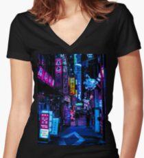 Blade Runner Vibes Women's Fitted V-Neck T-Shirt