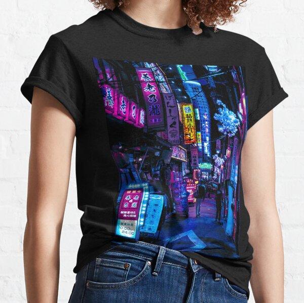 Blue Tokyo Alleys T-shirt classique