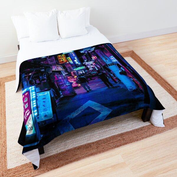 Blue Tokyo Alleys Comforter