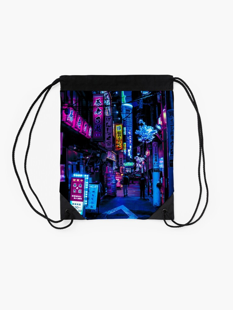 Alternate view of Blade Runner Vibes Drawstring Bag