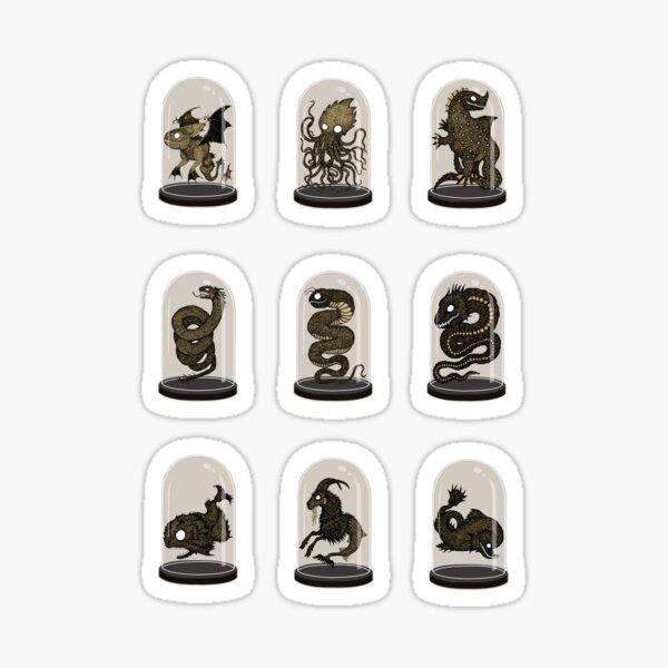 Sea Monster Bell Jars Sticker