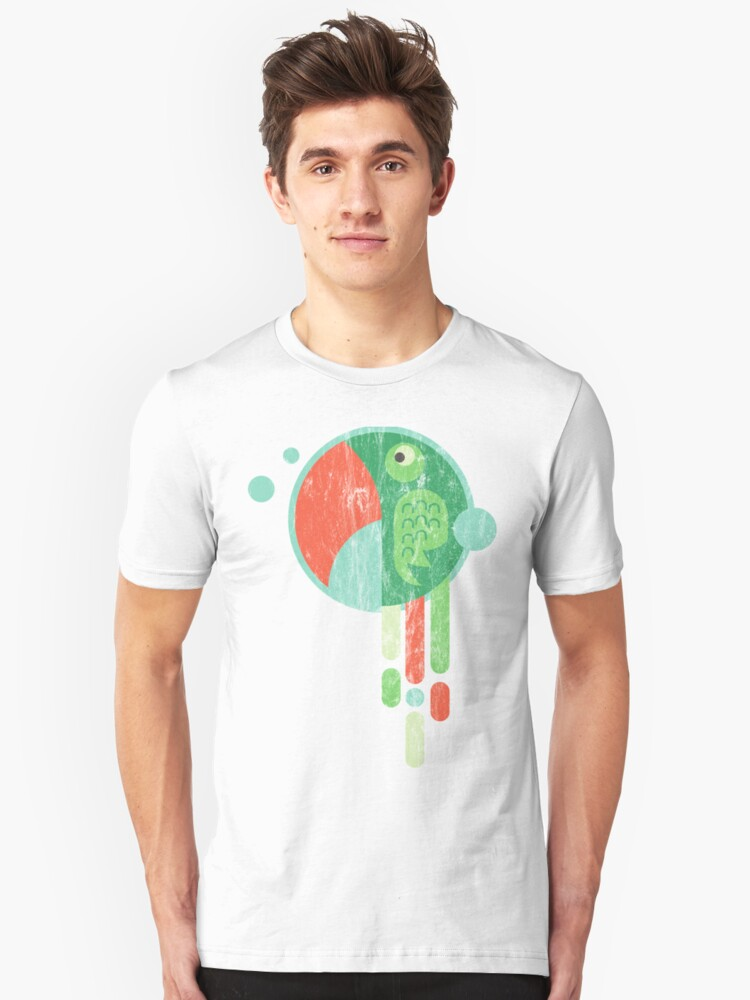 ABASTRACT PARROT - Colorful Abstract Parrot Washed Design Unisex T-Shirt Front