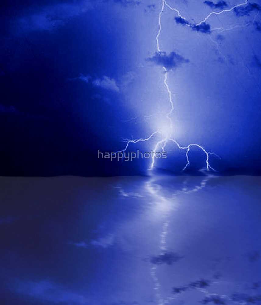 Reflection of a thunderstorm (lightning) by happyphotos