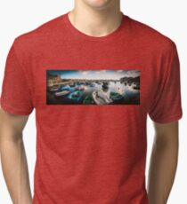 Malta Panorama – Harbour Tri-blend T-Shirt