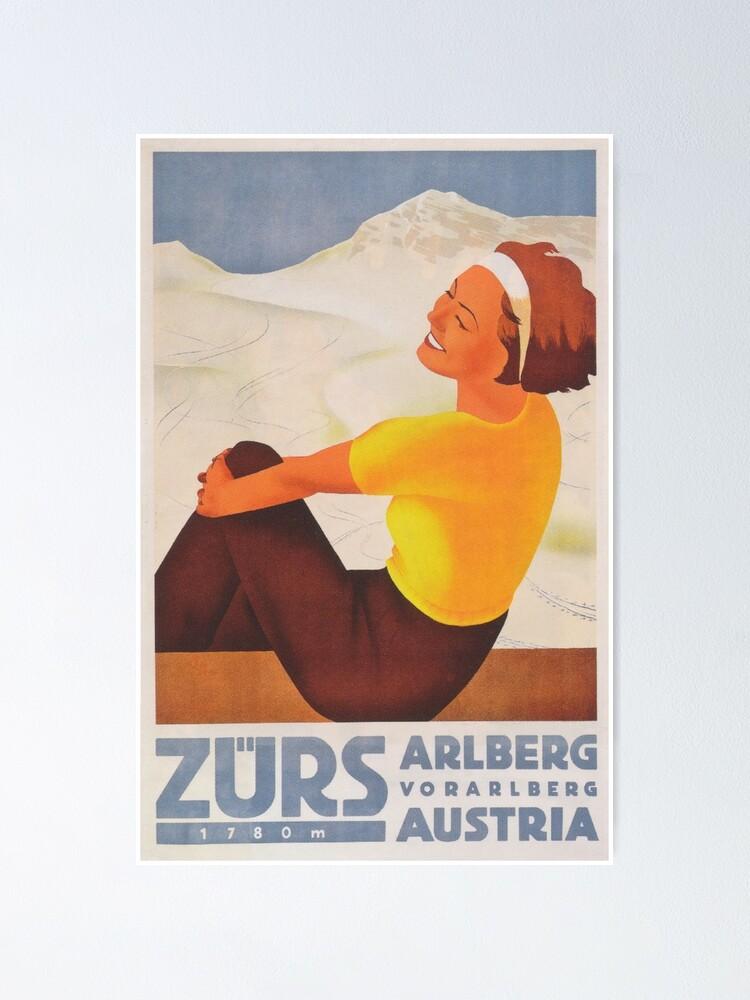 WINTER AUSTRIA SKI NEW Poster Picture Vintage Travel Sport Canvas art Prints