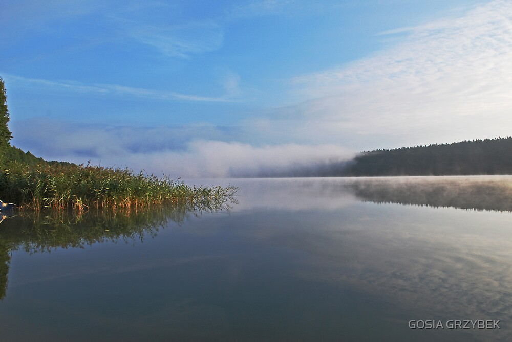 morning by the lake Gilwa -Poland by GOSIA GRZYBEK