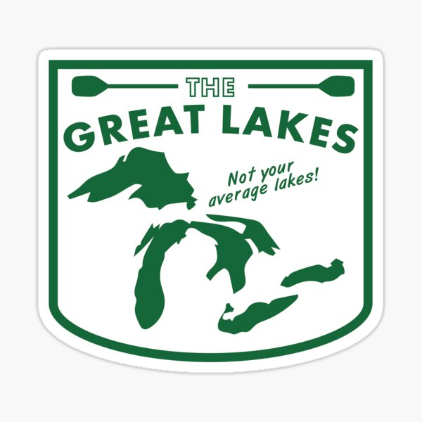 Great Lakes Sticker Sticker