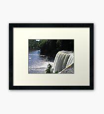 Beautiful Waterfall in Upper Michigan Framed Print