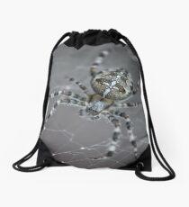 Spider - cross spider Drawstring Bag