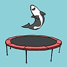 Trampoline Shark (Blue) by bobknarwhal