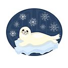 Cute winter seal by Elsbet