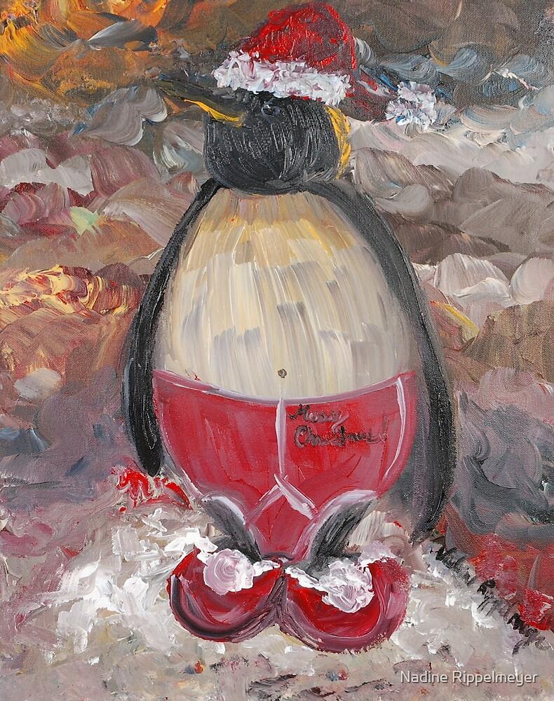 Christmas Penguin by Nadine Rippelmeyer