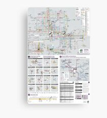 Phoenix Metro Transport Map - United States Canvas Print