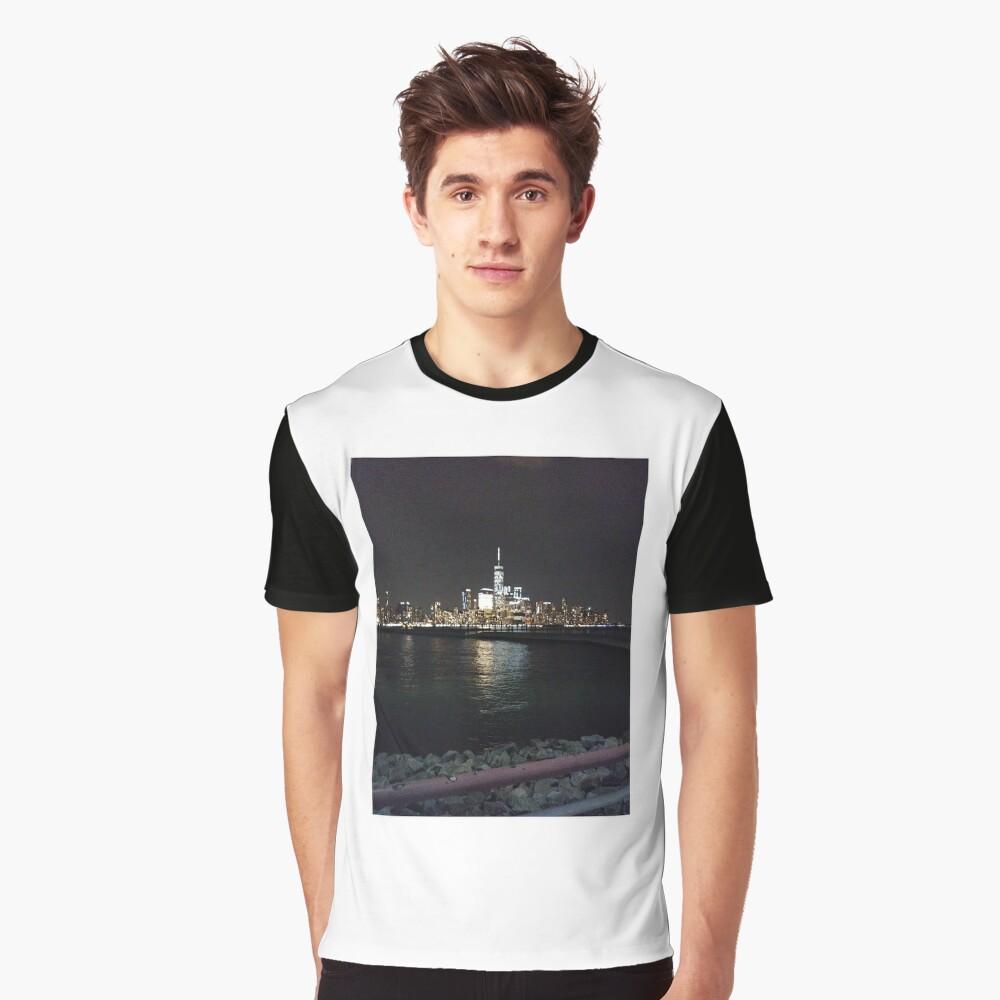 New York Night Graphic T-Shirt Front